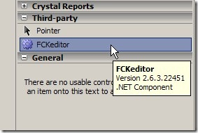 FCKEditor integration with ASP NET – Never Too Old To Learn