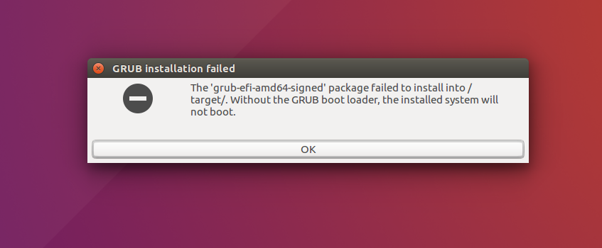 Fix] 'grub-efi-amd64-signed' package failed to install into /target